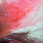 2014 / Encres, huile et collage sur toile taille : 80X110 cm