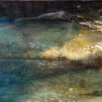 2014 / Encres, huile et collage sur toile taille : 150X65 cm